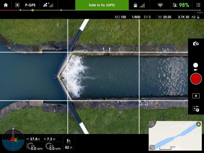 Utilizar cuadricula de tercios en fotografia aerea